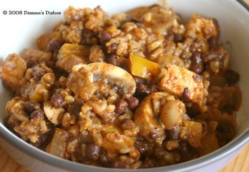 Cajun Adzuki Beans with Brown Rice and Chicken | by Dianne's Dishes