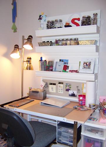 Scrapbooking Desk My Scrapbooking Desk With Pottery Barn