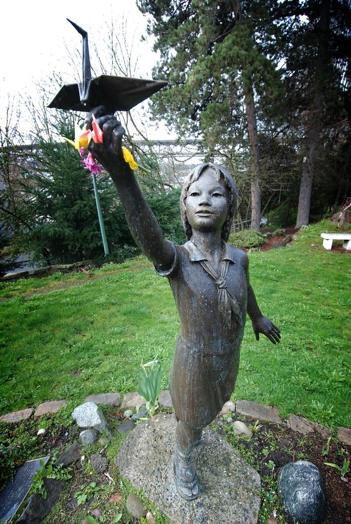Statue Of Sadako Sasaki In Seattle Peace Park Statue Of