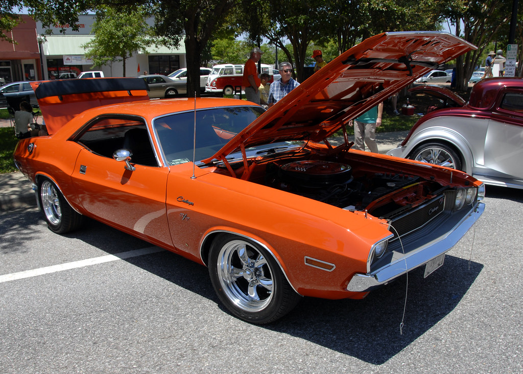 Classic Cars Orange Dodge Challenger Muscle Car Flickr