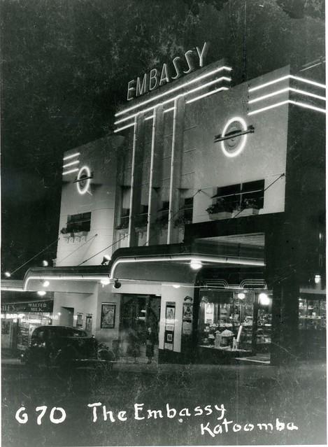 Embassy Theatre By Night Katoomba 1938 Embassy Theatre