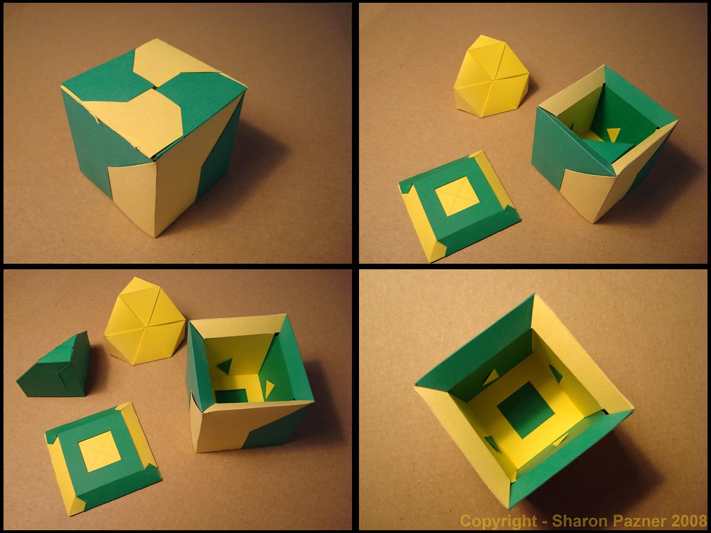 fancy box - simple puzzle - paper hypercube | more 3d ... - photo#15