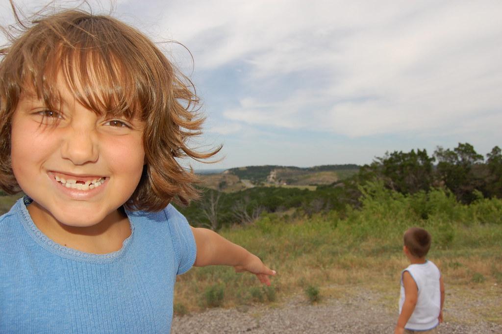 07-08-08 | Mountain View. Myra points at the pretty view ...