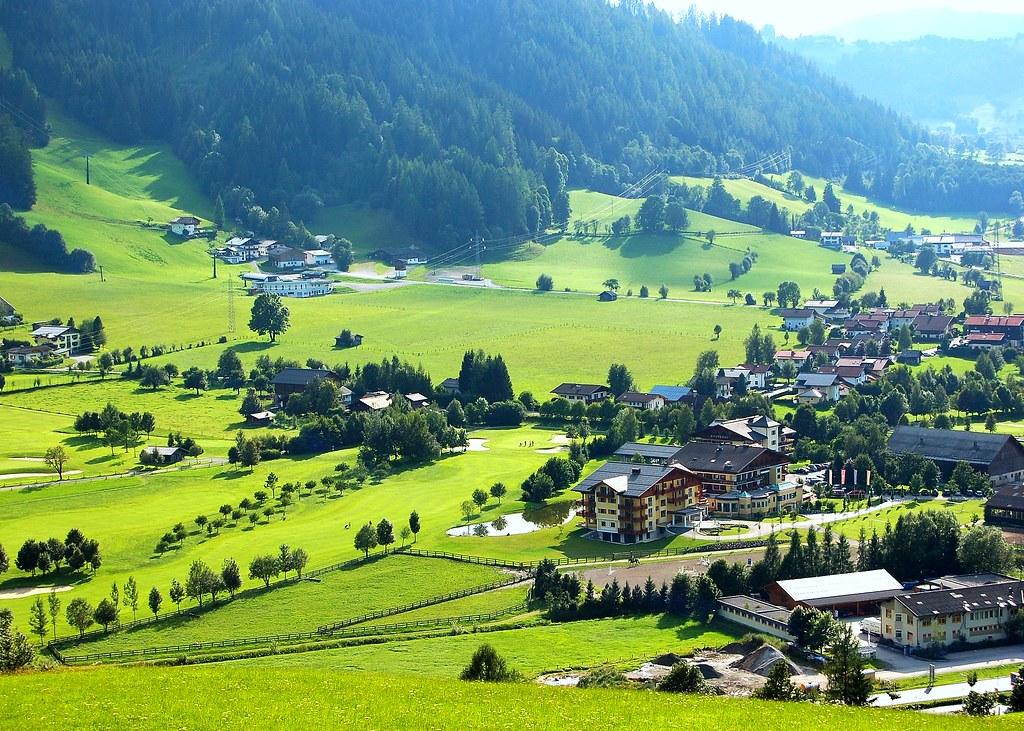 Summer scene from Radstadt, Austria