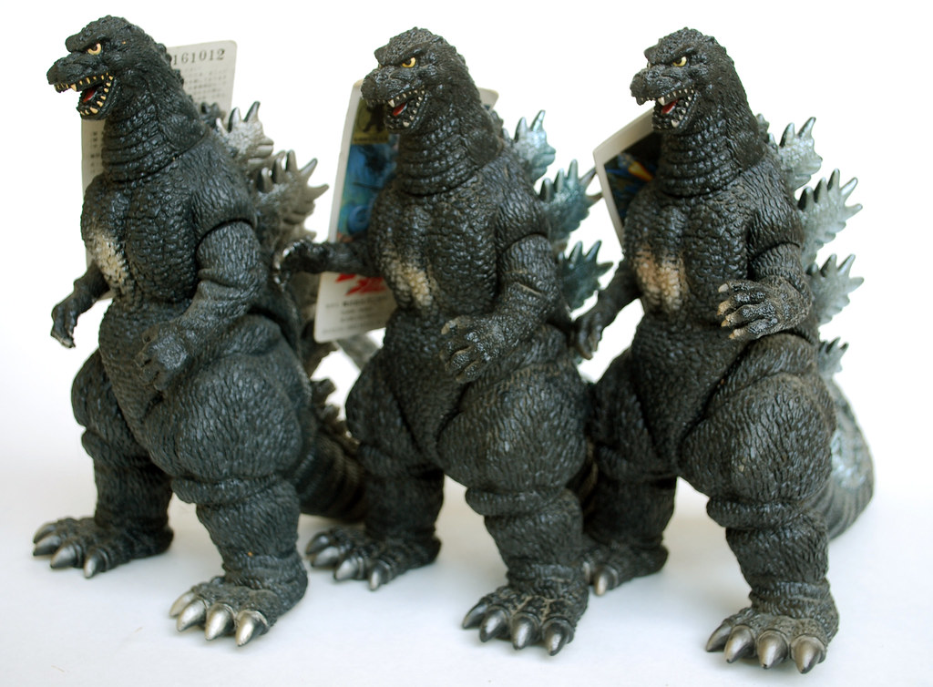 Bandai Godzilla Comparison Left To Right Bato Goji