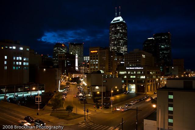 Indianapolis Skyline At Night Alan Brockman Flickr