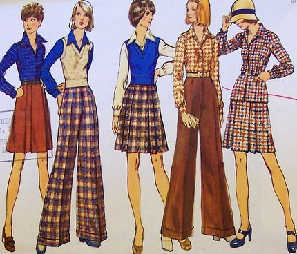 Vintage Simplicity 5855 70's UNCUT AND FACTORY FOLDED Blou ...
