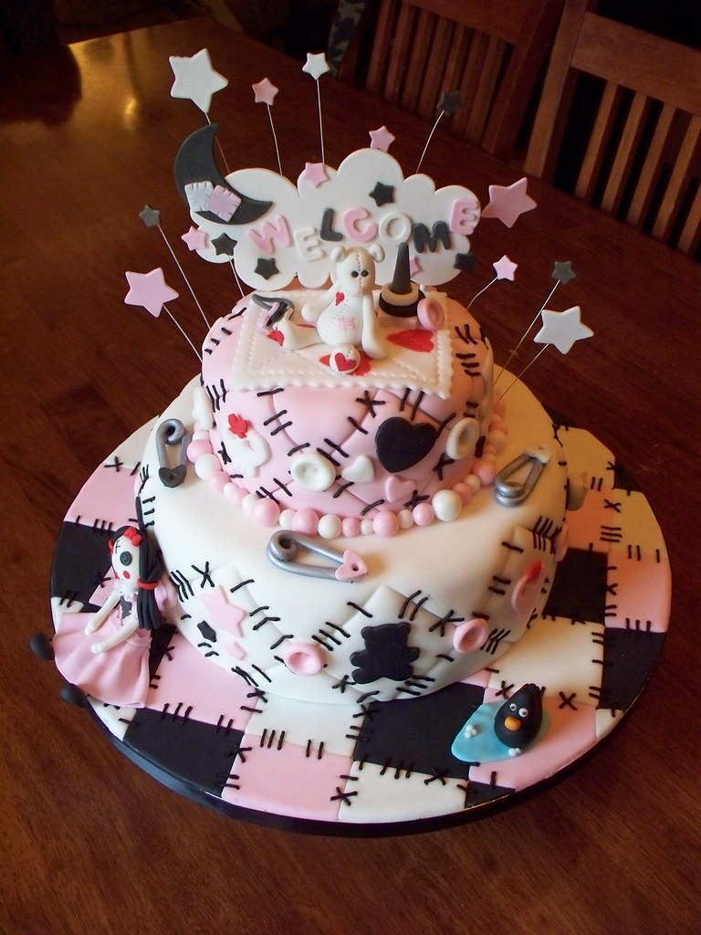Emo Quilt Cake Bottom Tier Is Almond Cake Filled With