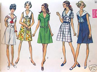 Vintage sewing pattern: 1960s sailor dress | Blogged here ...