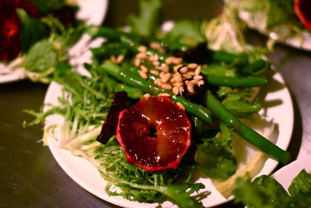 Beet, Endive, Asparagus, Blood Orange, and Pine Nut salad with Orange ...