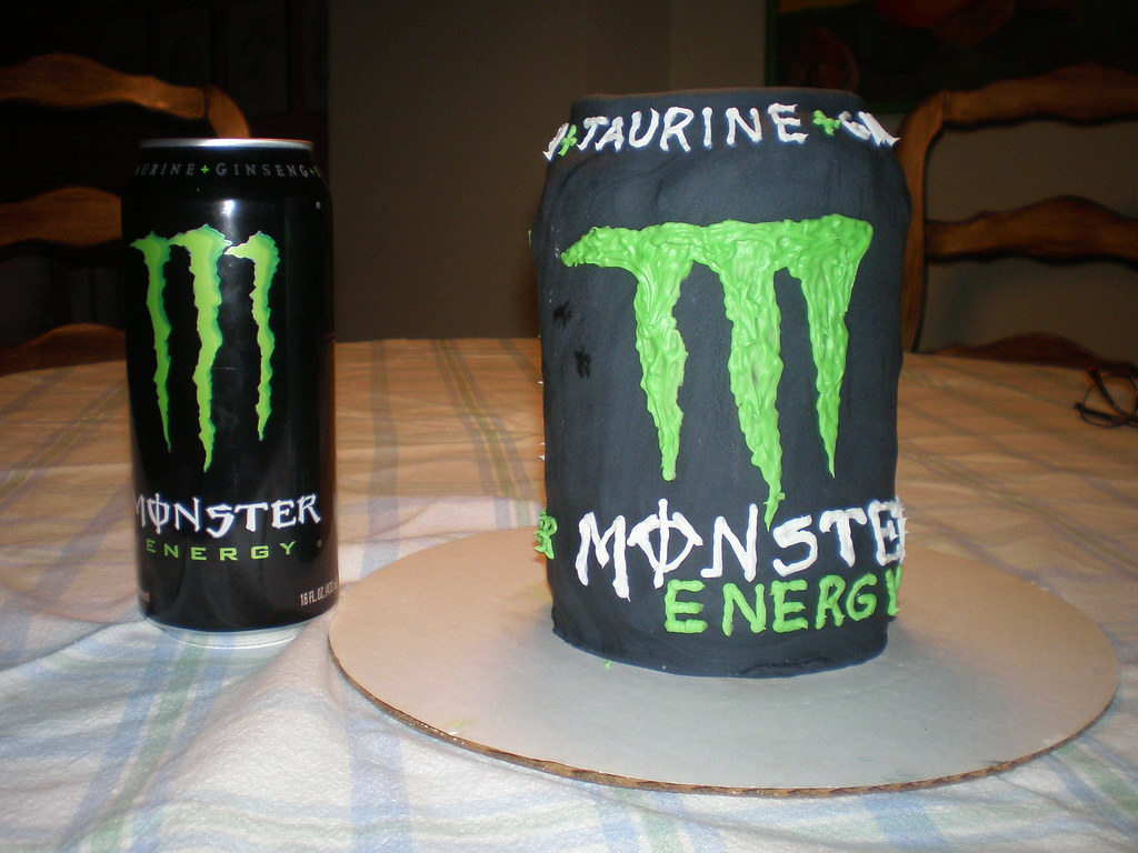 Monster Energy Drink Cake Designs