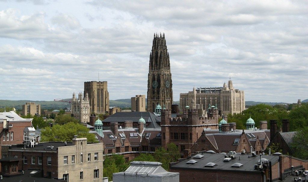 Yale University Skyline New Haven Connecticut Ali
