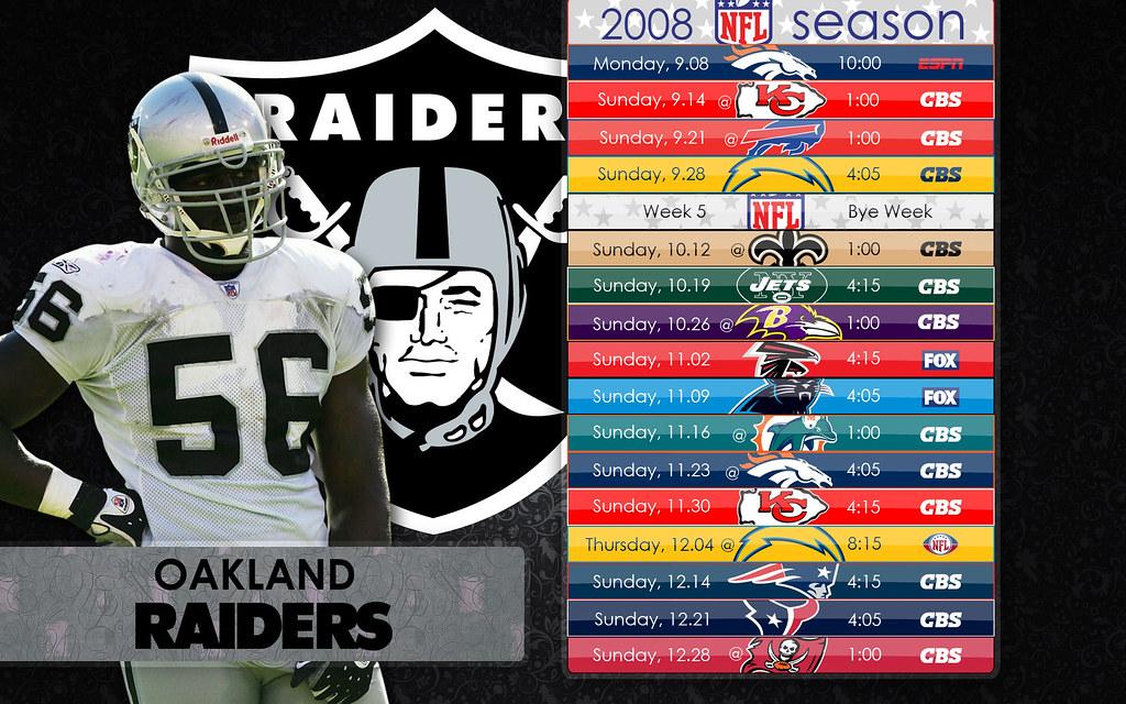 Raiders Schedule Wallpaper Raiders Schedule v4
