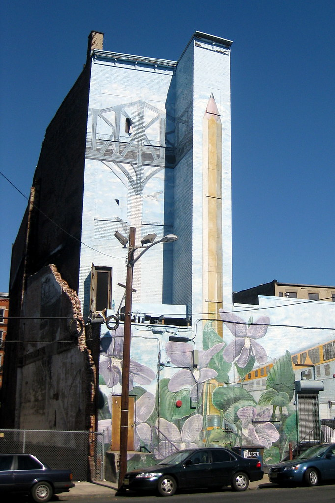 Nj Jersey City Christopher Columbus Drive Mural Flickr