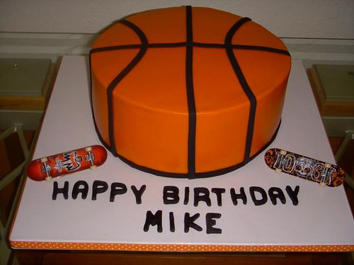 Basketball Cake Butterecream with fondant accents. yvy ...