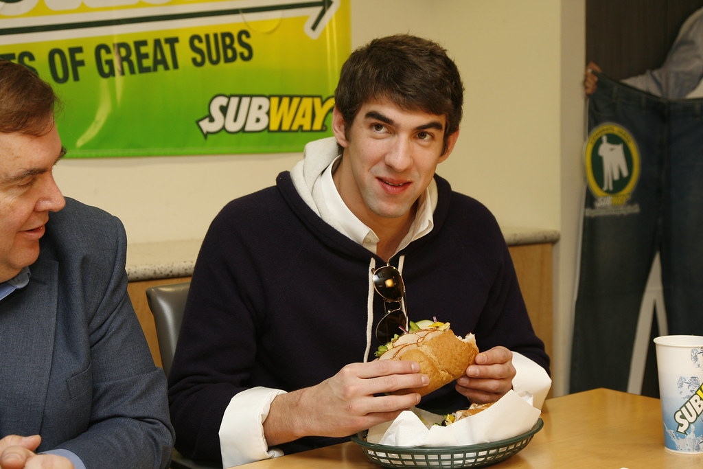 Michael Phelps Enjoying Subway 2