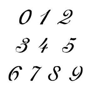 Letter And Number Designs For Tattoos