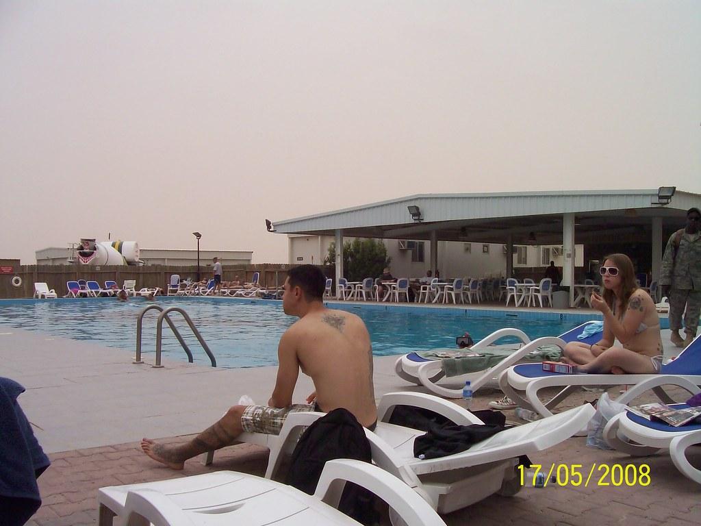 Pool side at camp ali al salem we worked for 40 plus days flickr sciox Images
