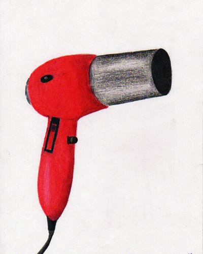 Dibujo a mano alzada secador de pelo laurita mza flickr - Secador de manos ...