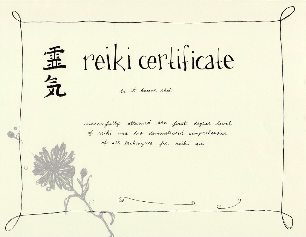 reiki certificates to buy images