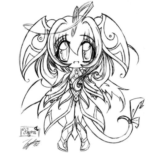 chibi animal coloring pages - chibi xyni xyni age no race mostly imaginary