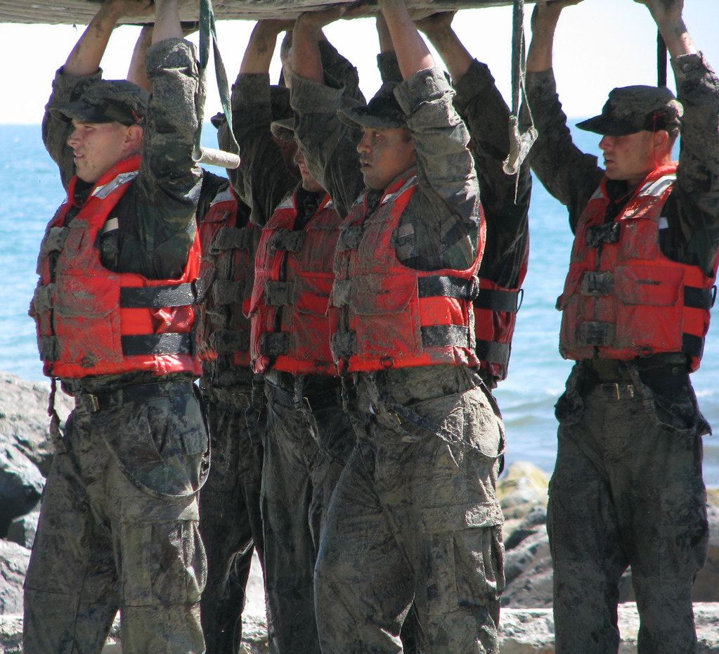 Military Navy Style Wedding Ring
