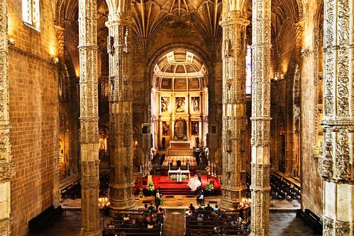 Interior Mosteiro Dos Jeronimos Lisbon