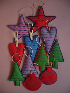 Christmas Felt Hanging Ornaments 2006 | by Natasha Smart Textiles