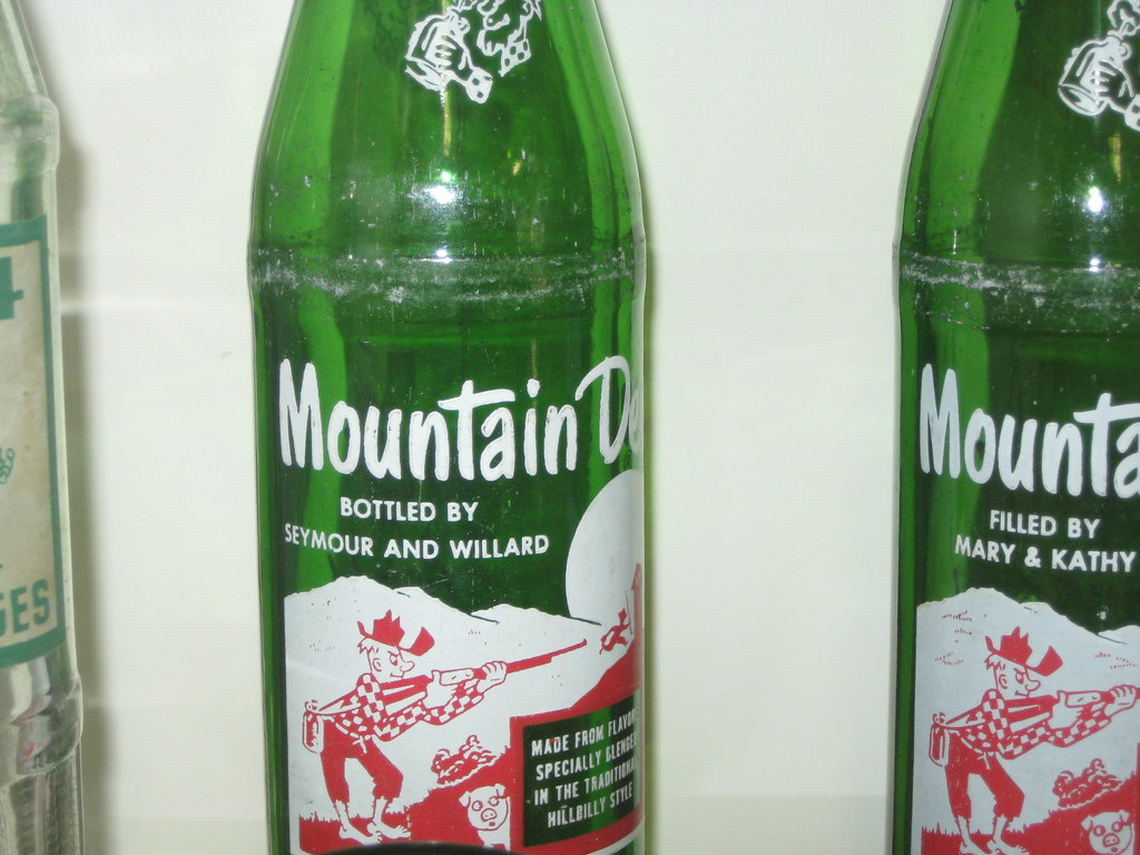 "dating mountain dew bottles Rather than a commercial drink, the mountain dew was a novelty that  coup of  packaging his ""tri-city lemonade"" in mountain dew bottles,."