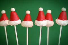 Santa Hat Cake Pops | by Bakerella