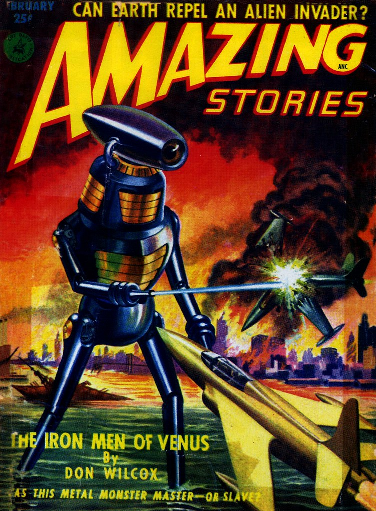 Free Fantasy Book Cover Art : Amazing stories february classic vintage science fict