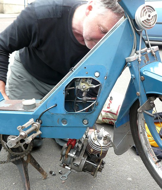 Just Changing The Fan Belt Brian And Solex Flash In Stai Flickr