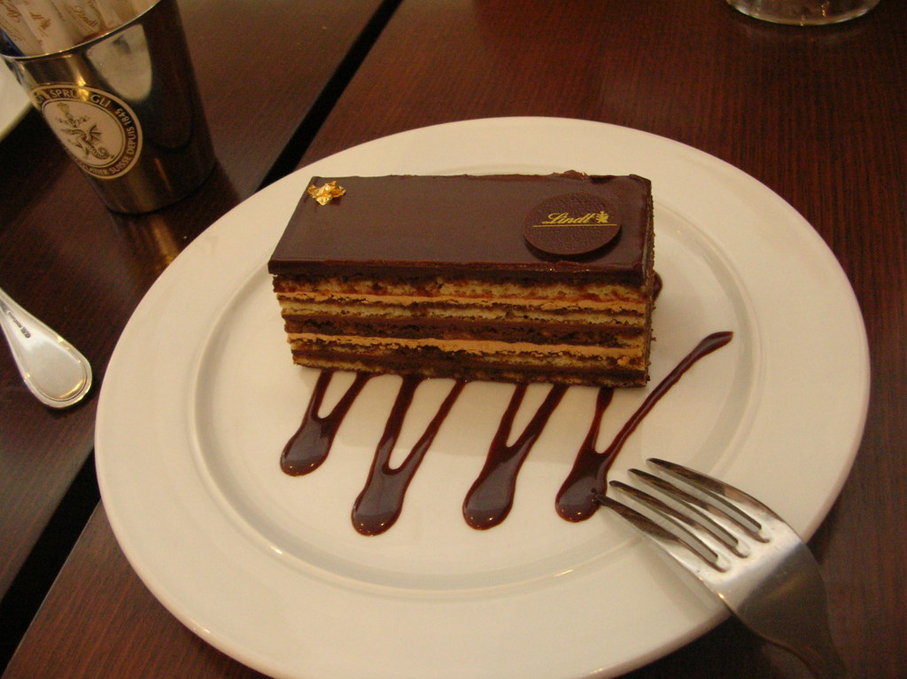 lindt cake :) a very nice looking chocolate lindt cake ...