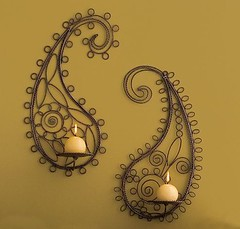 Paisley sconces from Gaiam | by Belledame73