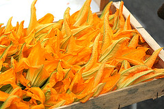 zucchini blossoms | by David Lebovitz