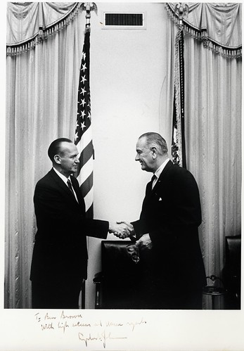 Ben Hill Brown and Lyndon B. Johnson | by Wofford Archives