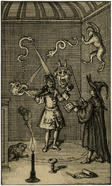 Anonymous British Occult Print Dated 1720 A Gentleman