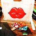 Cute lips bag