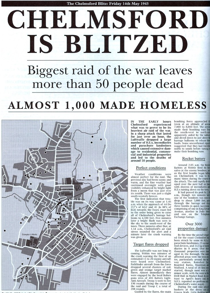 Chelmsford is Blitzed | A reproduction and scanned article ...