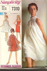 Vintage sewing pattern: 1960s sheer overlay dress | by vintagemode