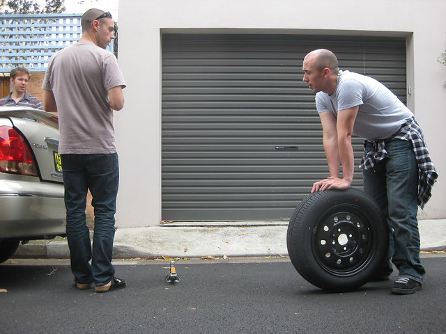 how long does it take 4 men to change 1 tire flickr photo sharing. Black Bedroom Furniture Sets. Home Design Ideas