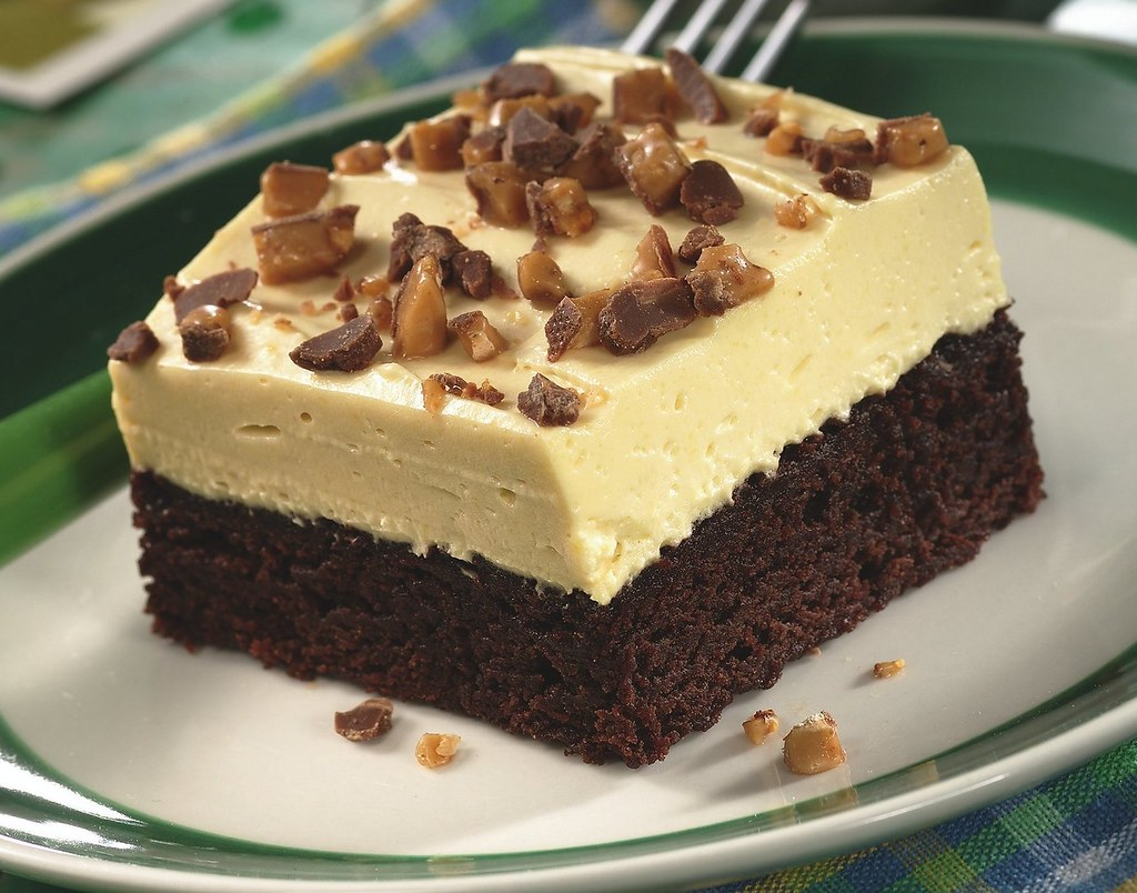 Irish Cream Topped Brownie Dessert Recipe Description