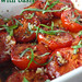 roasted tomatoes with basil