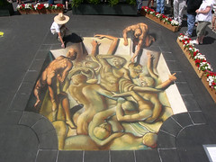 3D Street Painting - Battle of the Centaurs | by Tracy Lee Stum