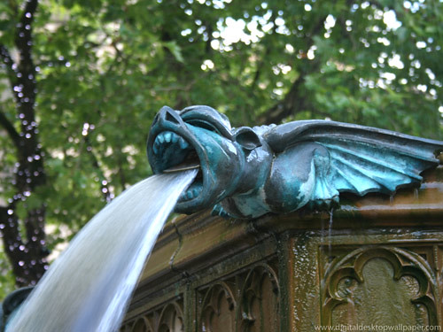 Gargoyle Water Fountain Manchester Uk This Is An