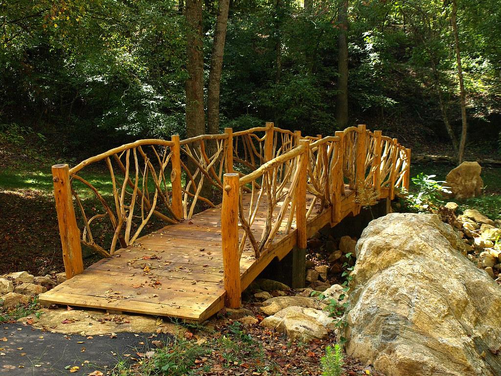Rustic Wooden Footbridge At Acadia Powdersville South C