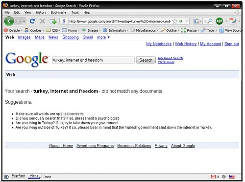 Turkey, internet and freedom | Google cant find ...