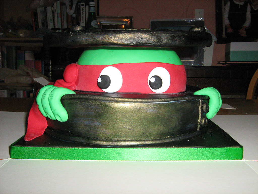 ninja turtle cake pan turtle cake raphael saw this idea on flickr 6175