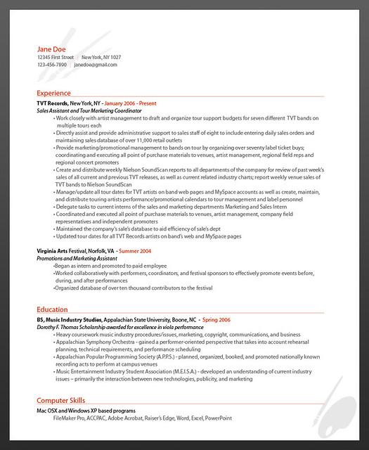 resume online sample