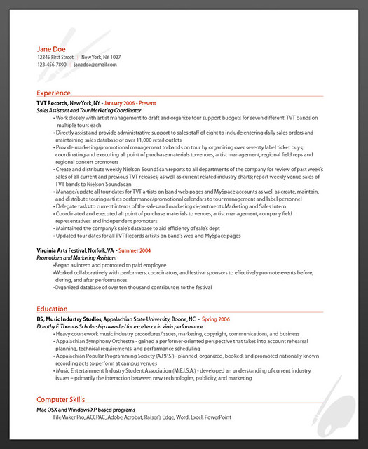 Sample Online Resume | Sample Resume And Free Resume Templates